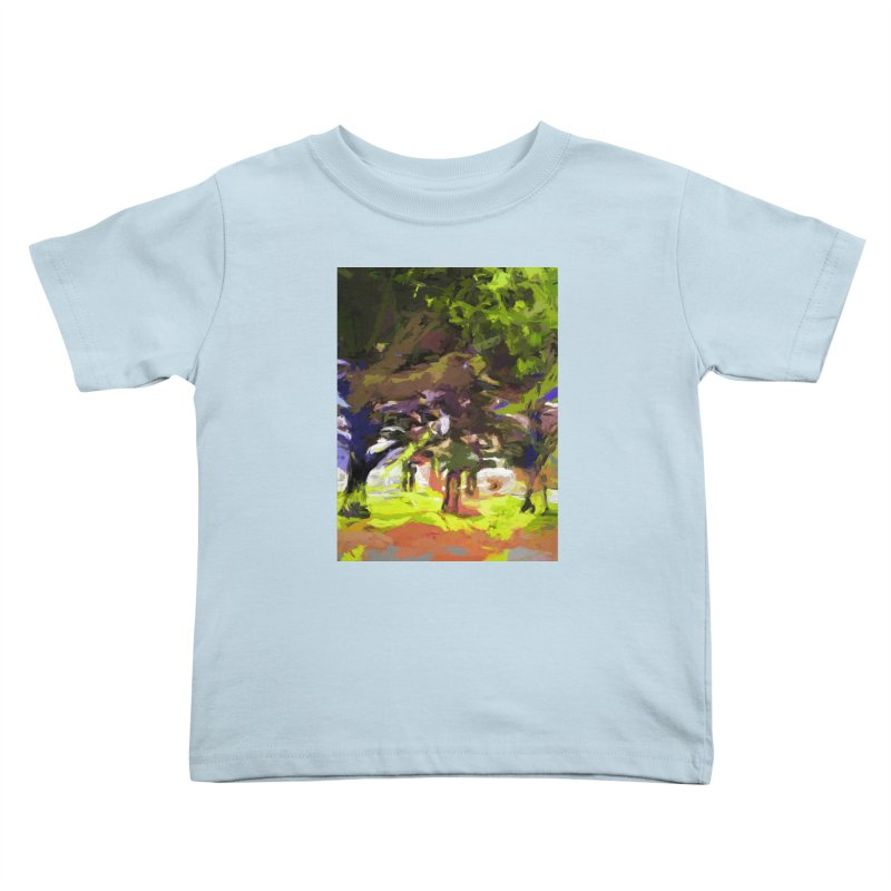 Tree Avenue Orange Green Indigo Blue Kids Toddler T-Shirt by jackievano's Artist Shop