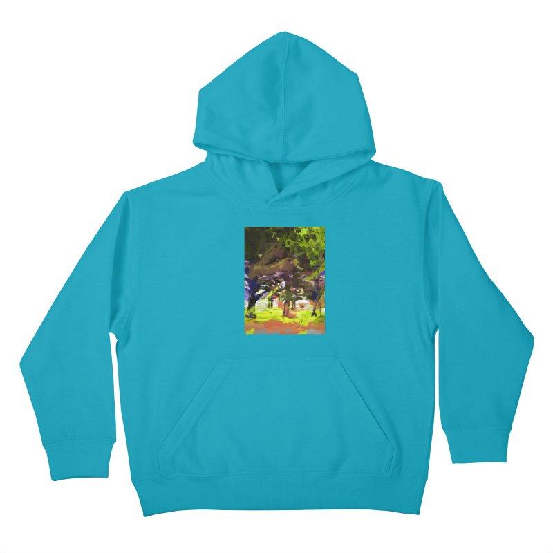 Tree Avenue Orange Green Indigo Blue Kids Pullover Hoody by jackievano's Artist Shop