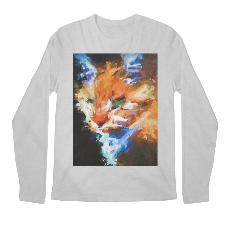 The Orange Cat in Light and Shadow Men's Regular Longsleeve T-Shirt by jackievano's Artist Shop