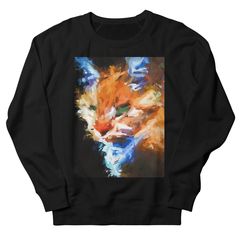 The Orange Cat in Light and Shadow Women's French Terry Sweatshirt by jackievano's Artist Shop