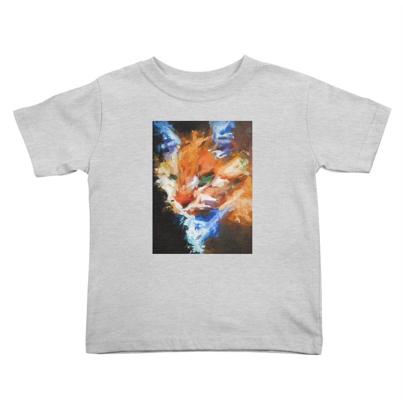 The Orange Cat in Light and Shadow Kids Toddler T-Shirt by jackievano's Artist Shop