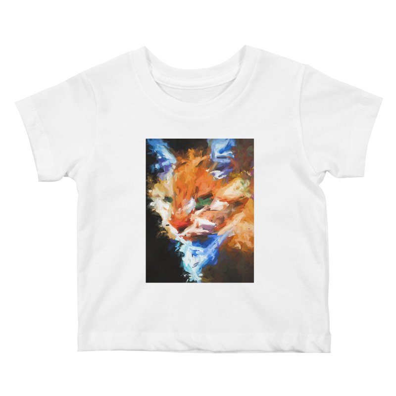 The Orange Cat in Light and Shadow Kids Baby T-Shirt by jackievano's Artist Shop