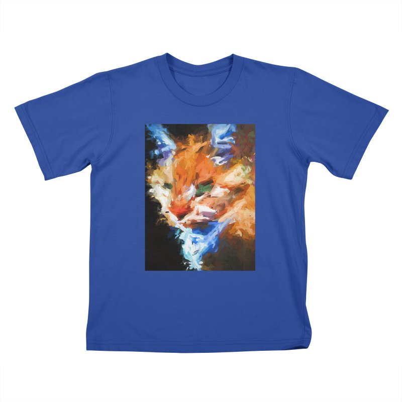 The Orange Cat in Light and Shadow Kids T-Shirt by jackievano's Artist Shop