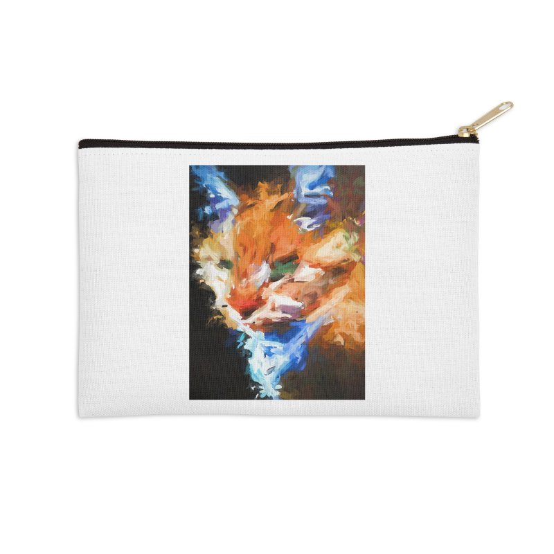 The Orange Cat in Light and Shadow Accessories Zip Pouch by jackievano's Artist Shop