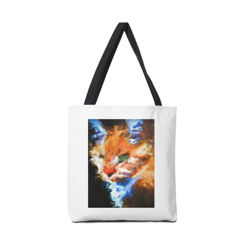 The Orange Cat in Light and Shadow Accessories Bag by jackievano's Artist Shop