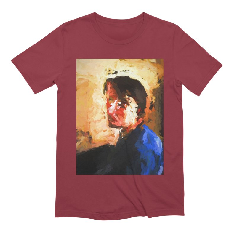 The Man in the Blue Shirt in Light and Shadow Men's Extra Soft T-Shirt by jackievano's Artist Shop