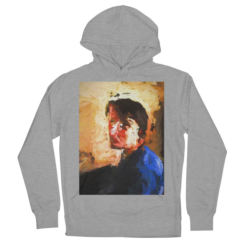 The Man in the Blue Shirt in Light and Shadow Men's French Terry Pullover Hoody by jackievano's Artist Shop