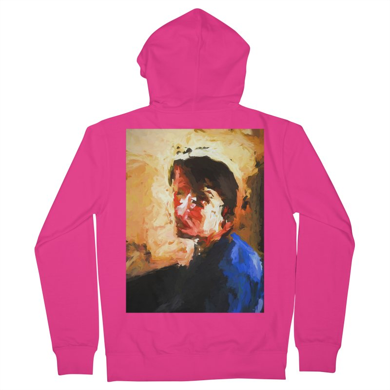 The Man in the Blue Shirt in Light and Shadow Men's French Terry Zip-Up Hoody by jackievano's Artist Shop