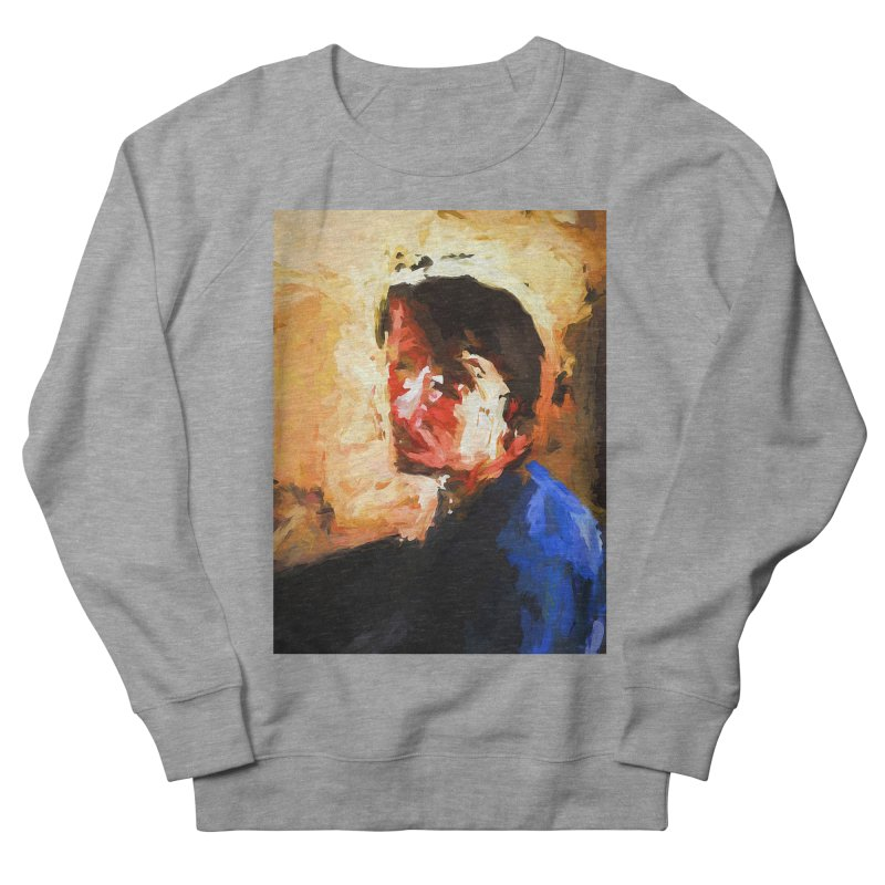 The Man in the Blue Shirt in Light and Shadow Women's French Terry Sweatshirt by jackievano's Artist Shop