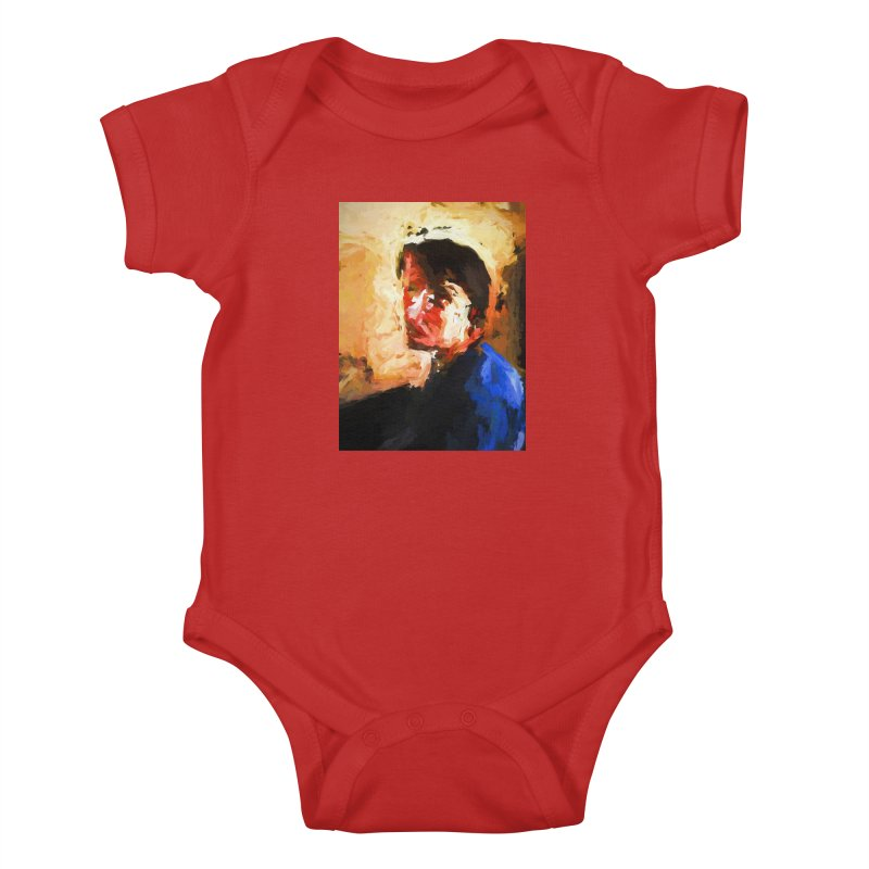 The Man in the Blue Shirt in Light and Shadow Kids Baby Bodysuit by jackievano's Artist Shop