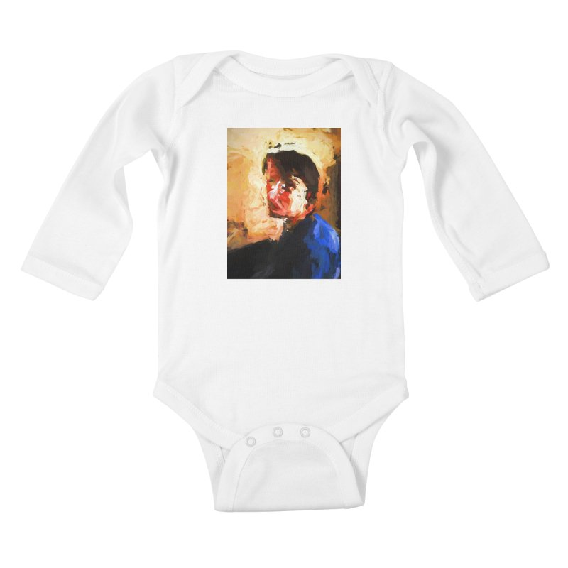 The Man in the Blue Shirt in Light and Shadow Kids Baby Longsleeve Bodysuit by jackievano's Artist Shop