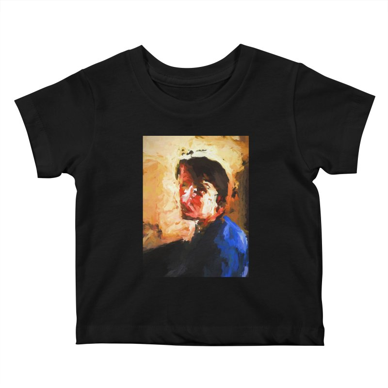 The Man in the Blue Shirt in Light and Shadow Kids Baby T-Shirt by jackievano's Artist Shop