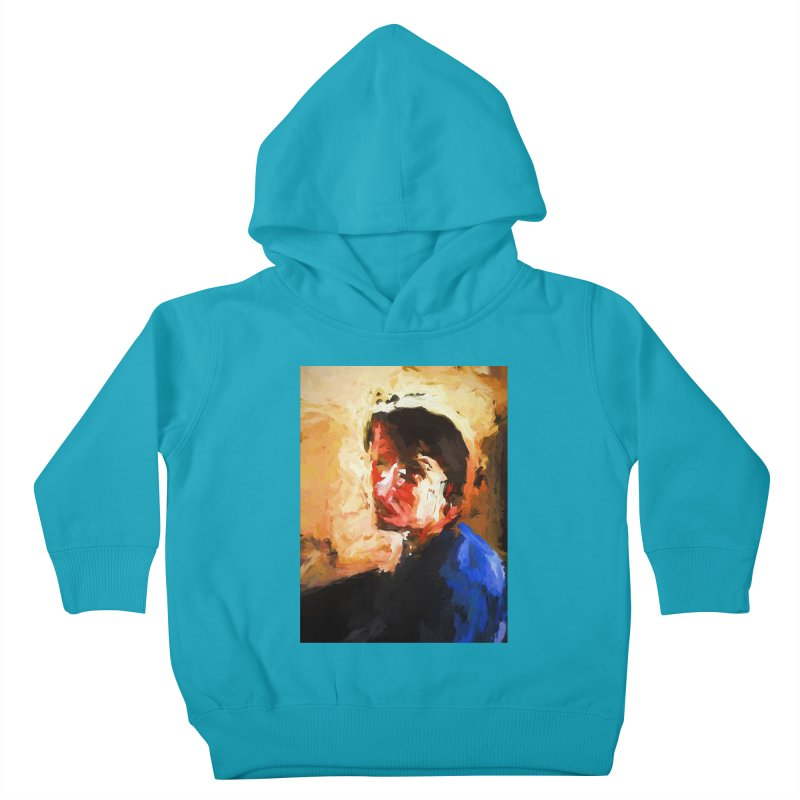 The Man in the Blue Shirt in Light and Shadow Kids Toddler Pullover Hoody by jackievano's Artist Shop
