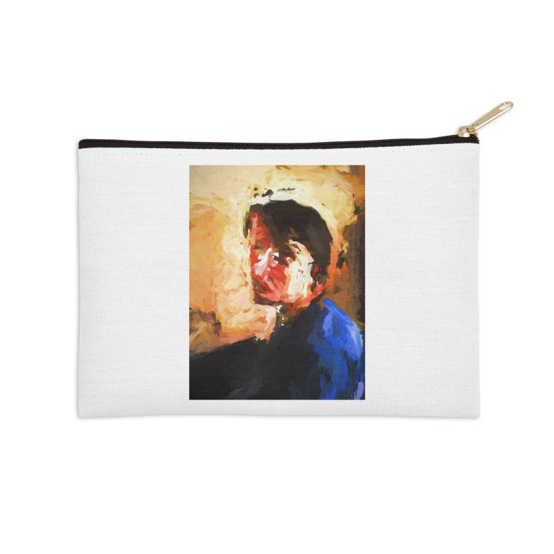 The Man in the Blue Shirt in Light and Shadow Accessories Zip Pouch by jackievano's Artist Shop