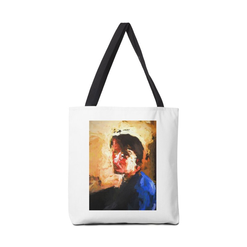 The Man in the Blue Shirt in Light and Shadow Accessories Bag by jackievano's Artist Shop