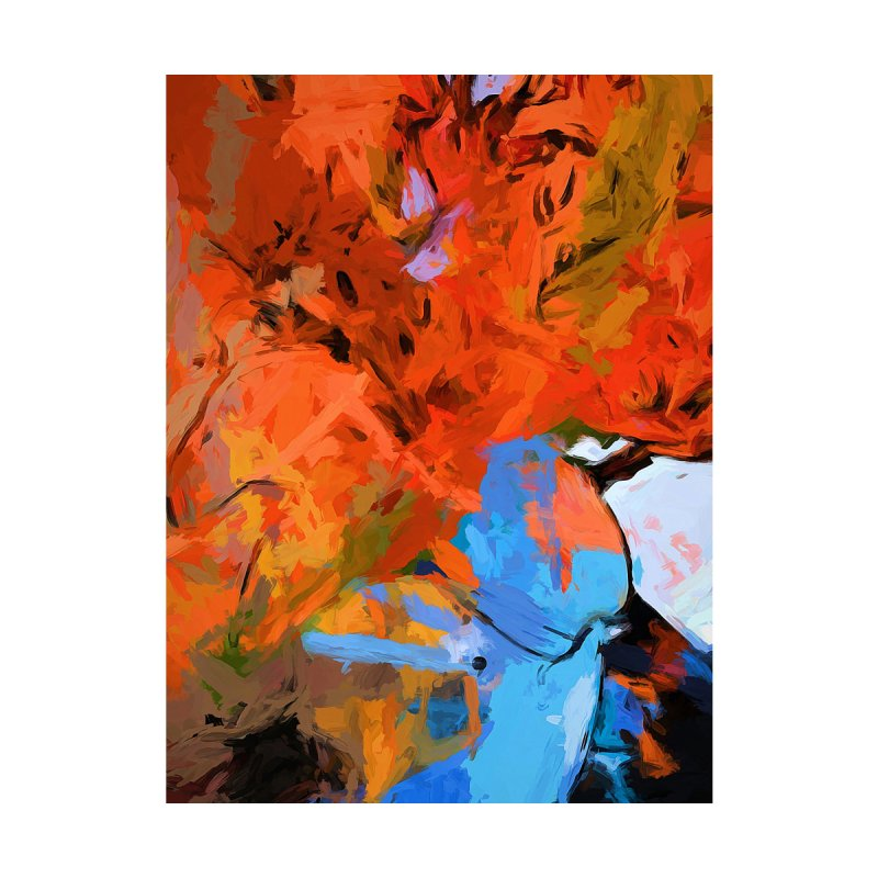 Lily Love Expression Splash Orange Blue by jackievano's Artist Shop