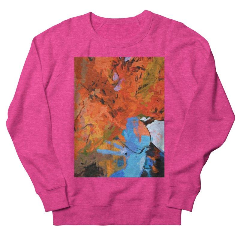 Lily Love Expression Splash Orange Blue Men's French Terry Sweatshirt by jackievano's Artist Shop