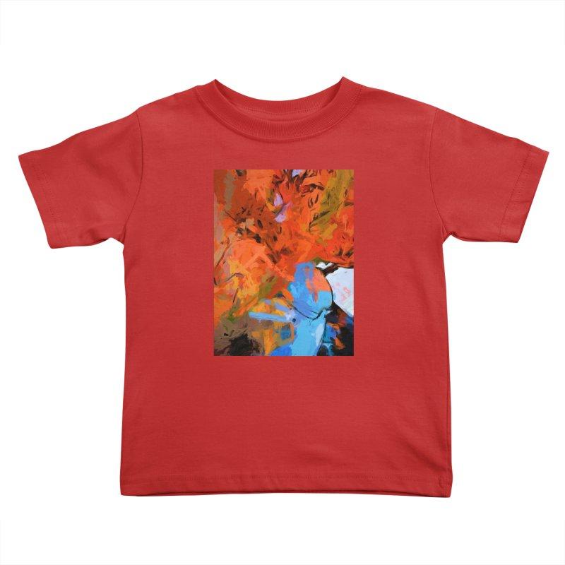 Lily Love Expression Splash Orange Blue Kids Toddler T-Shirt by jackievano's Artist Shop
