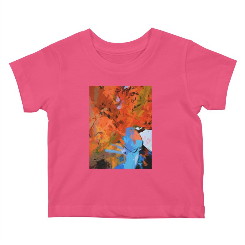 Lily Love Expression Splash Orange Blue Kids Baby T-Shirt by jackievano's Artist Shop