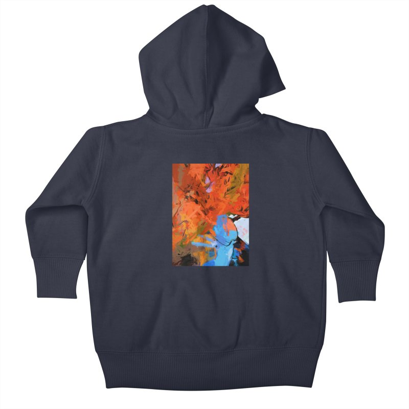 Lily Love Expression Splash Orange Blue Kids Baby Zip-Up Hoody by jackievano's Artist Shop