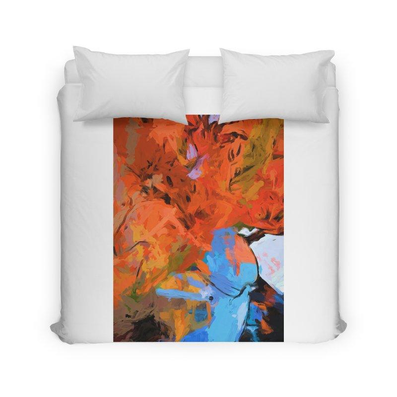 Lily Love Expression Splash Orange Blue Home Duvet by jackievano's Artist Shop