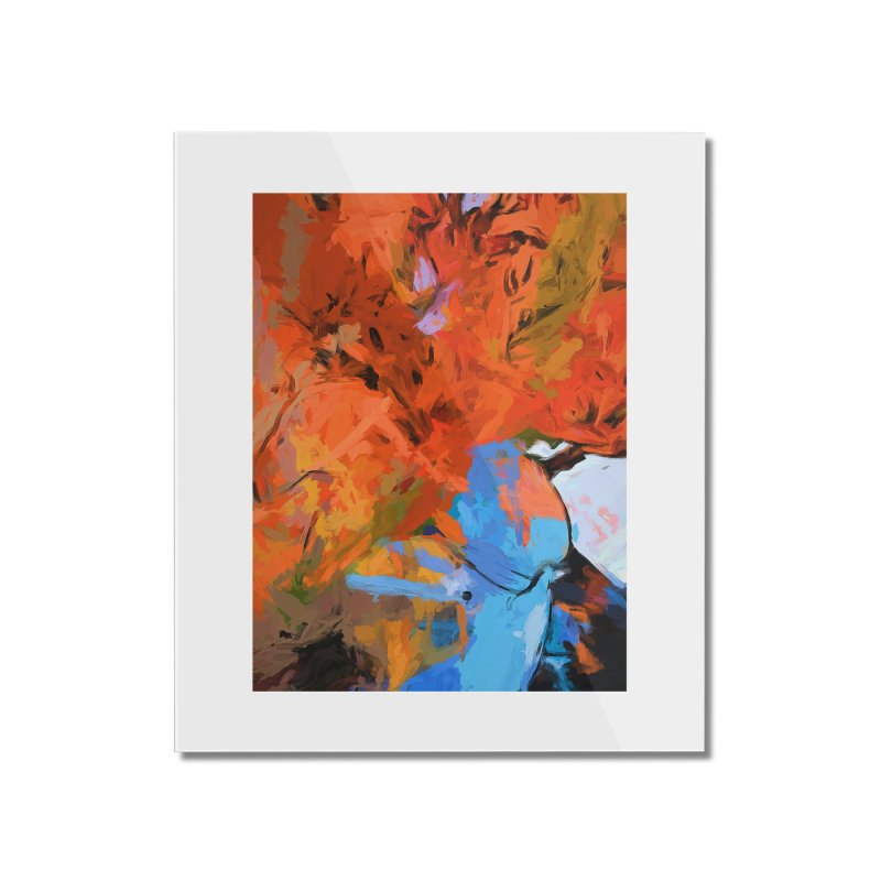 Lily Love Expression Splash Orange Blue Home Mounted Acrylic Print by jackievano's Artist Shop