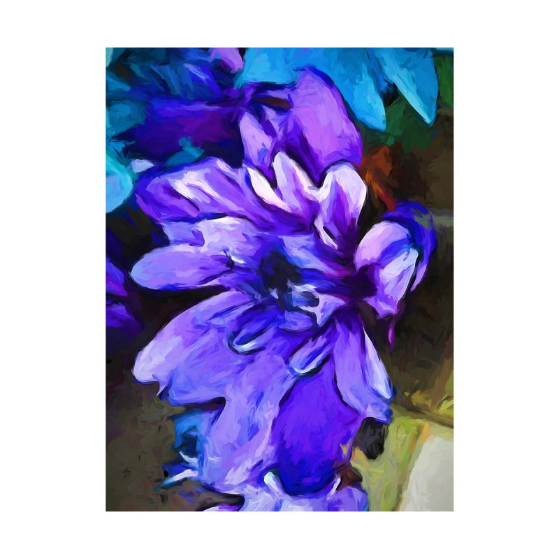 The Lavender and Cobalt Blue Flower by jackievano's Artist Shop