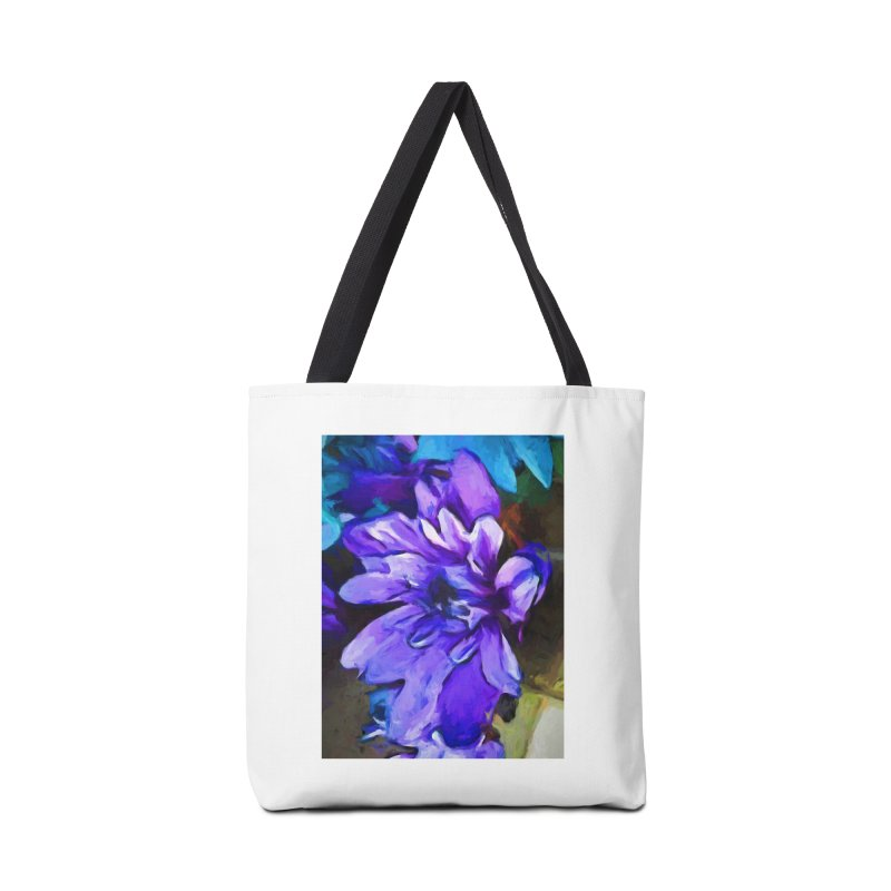 The Lavender and Cobalt Blue Flower Accessories Bag by jackievano's Artist Shop