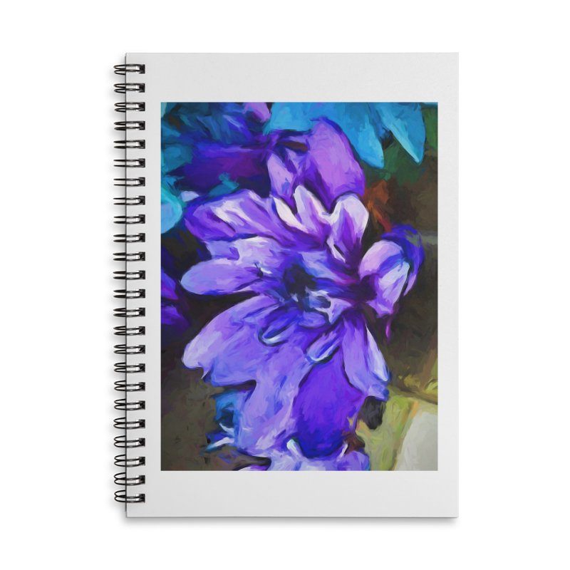The Lavender and Cobalt Blue Flower Accessories Notebook by jackievano's Artist Shop