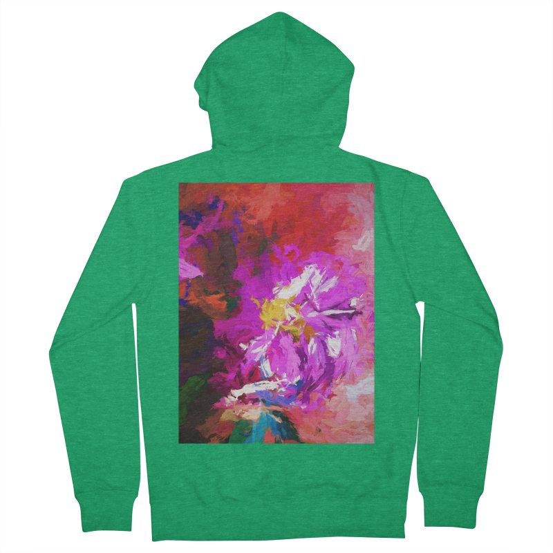The Lavender Flower of Sweet Delight Men's French Terry Zip-Up Hoody by jackievano's Artist Shop