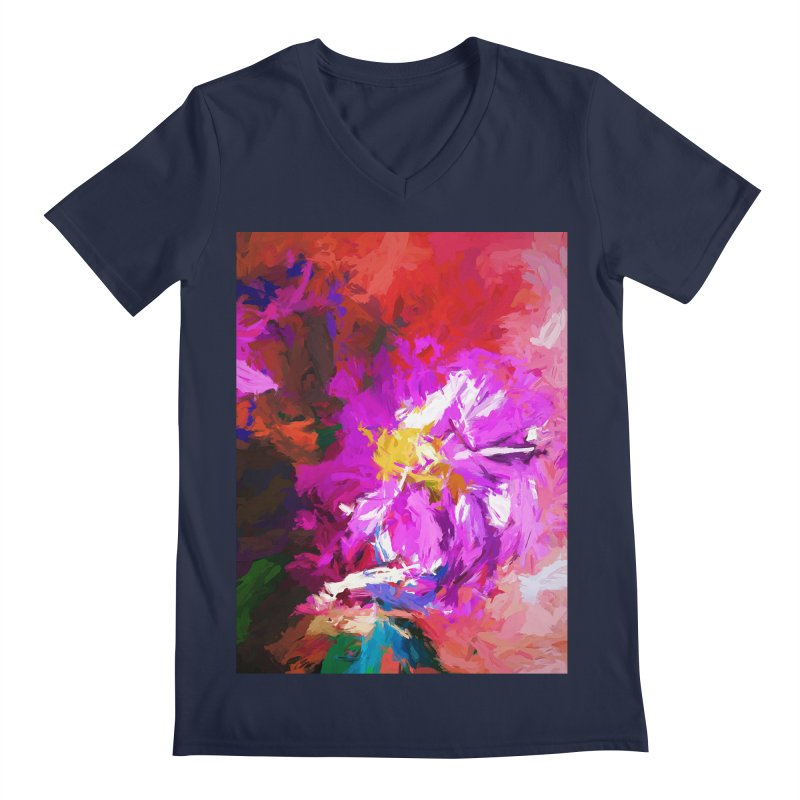The Lavender Flower of Sweet Delight Men's Regular V-Neck by jackievano's Artist Shop