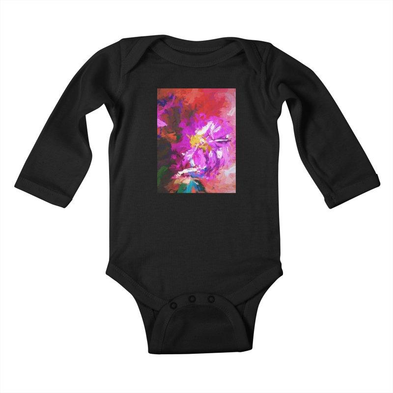 The Lavender Flower of Sweet Delight Kids Baby Longsleeve Bodysuit by jackievano's Artist Shop