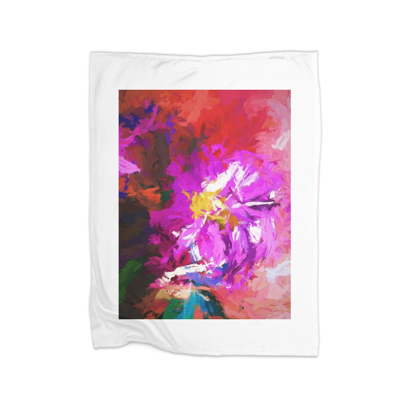 The Lavender Flower of Sweet Delight Home Blanket by jackievano's Artist Shop