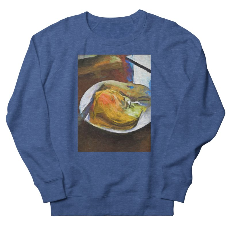 Fried Egg with Knife and Fork Men's French Terry Sweatshirt by jackievano's Artist Shop