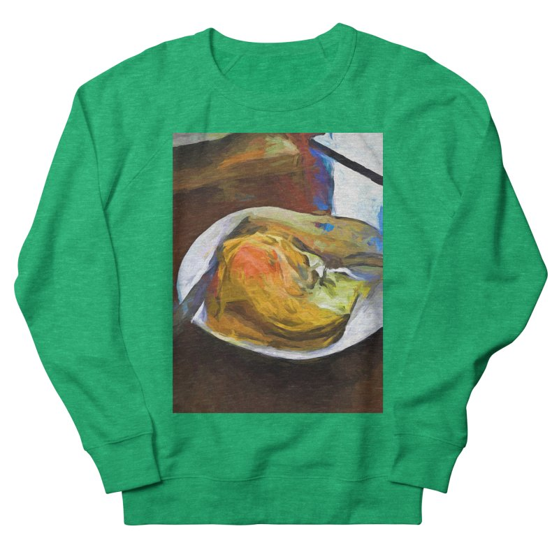 Fried Egg with Knife and Fork Women's French Terry Sweatshirt by jackievano's Artist Shop