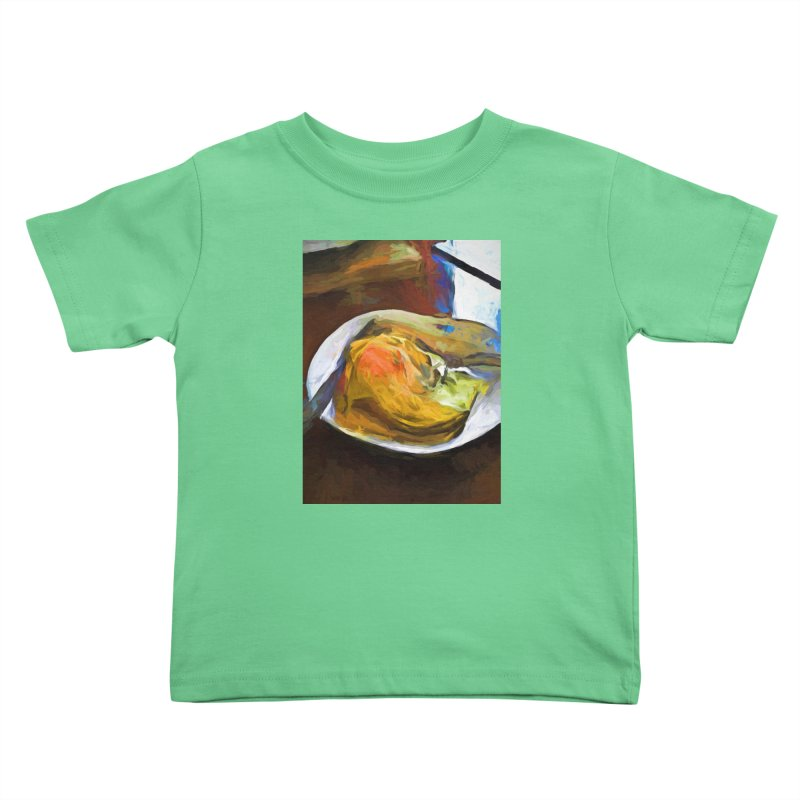 Fried Egg with Knife and Fork Kids Toddler T-Shirt by jackievano's Artist Shop