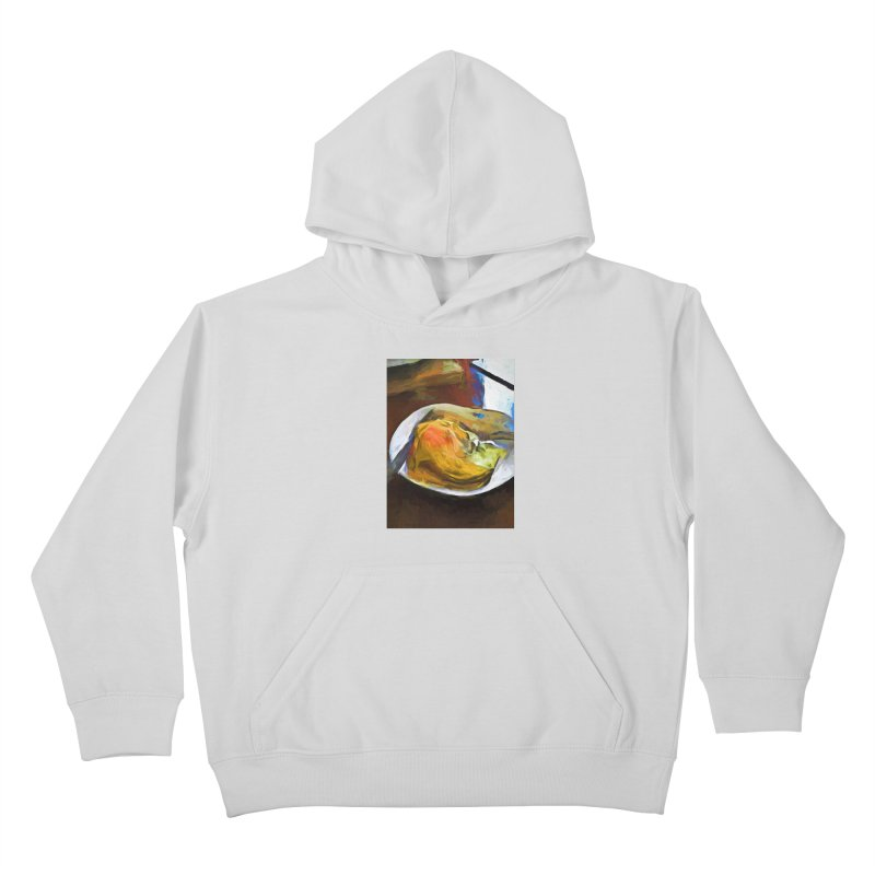 Fried Egg with Knife and Fork Kids Pullover Hoody by jackievano's Artist Shop