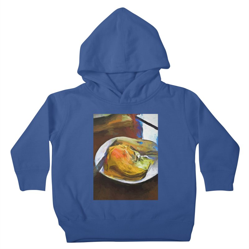 Fried Egg with Knife and Fork Kids Toddler Pullover Hoody by jackievano's Artist Shop