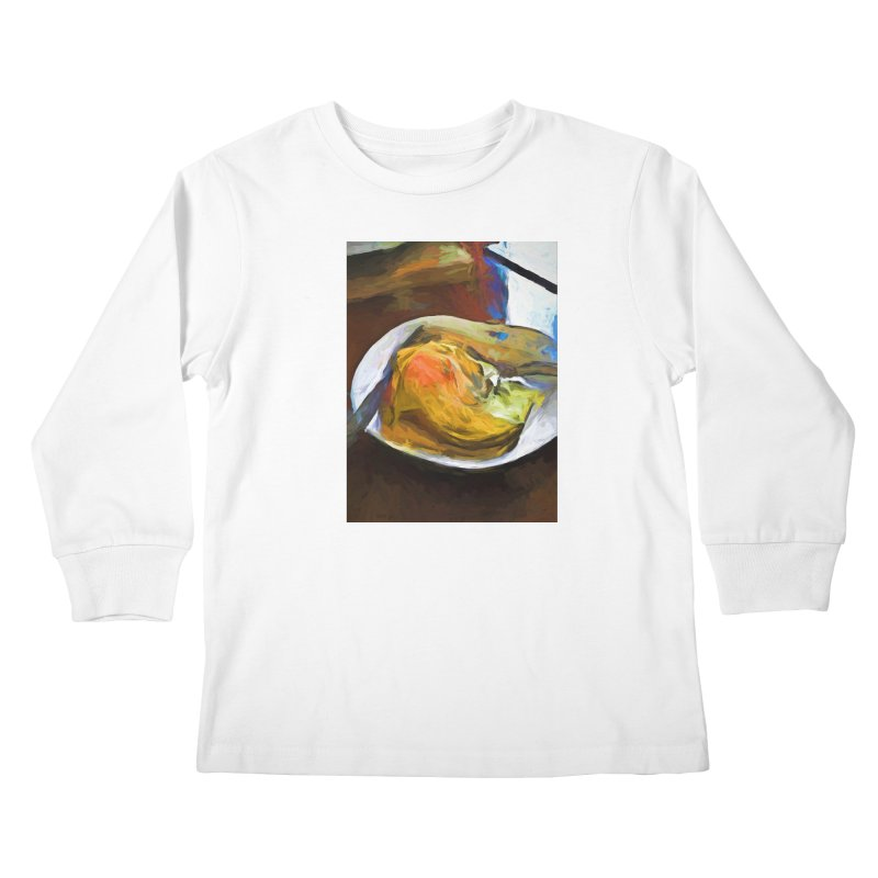 Fried Egg with Knife and Fork Kids Longsleeve T-Shirt by jackievano's Artist Shop