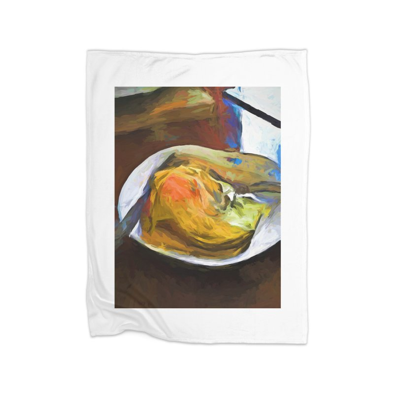 Fried Egg with Knife and Fork Home Blanket by jackievano's Artist Shop