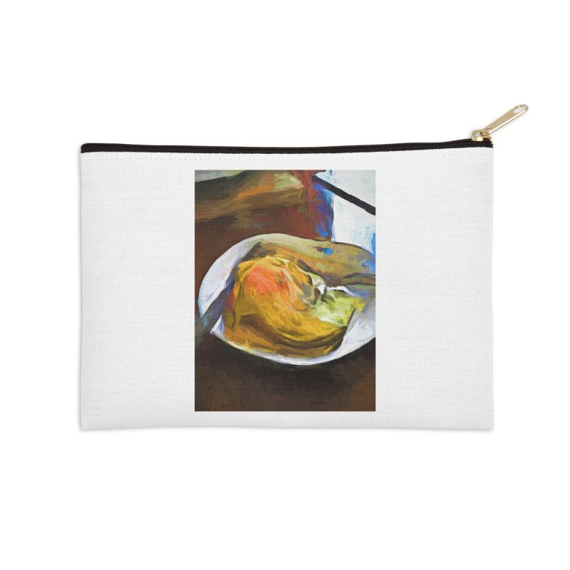 Fried Egg with Knife and Fork Accessories Zip Pouch by jackievano's Artist Shop