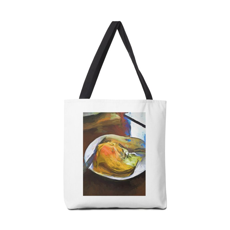 Fried Egg with Knife and Fork Accessories Bag by jackievano's Artist Shop