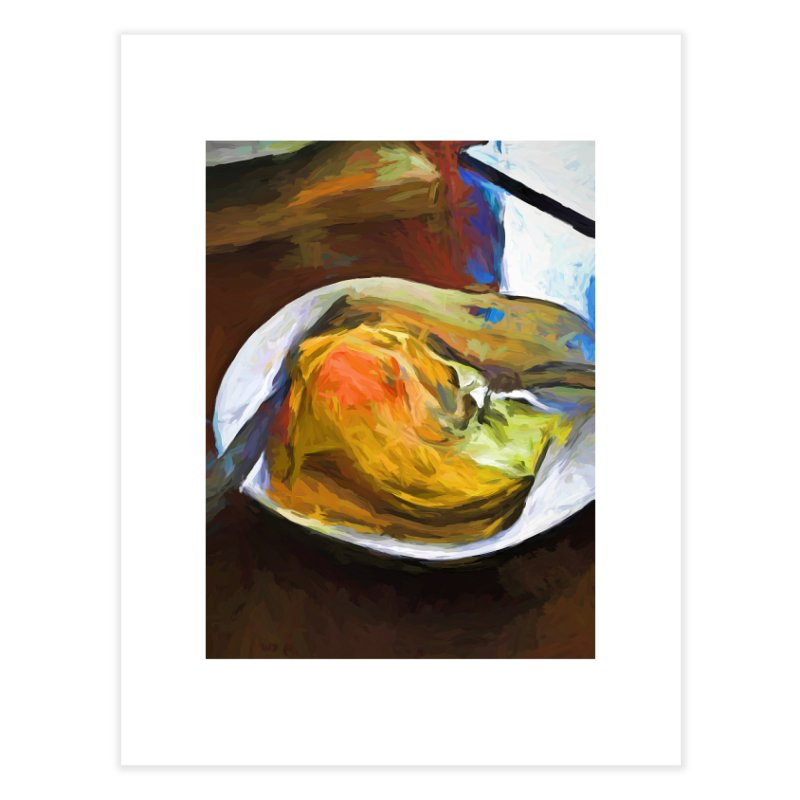Fried Egg with Knife and Fork Home Fine Art Print by jackievano's Artist Shop