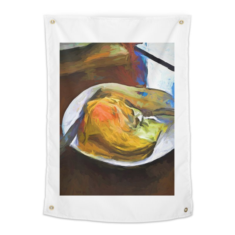 Fried Egg with Knife and Fork Home Tapestry by jackievano's Artist Shop