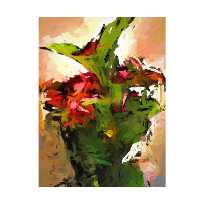 Green Leaves and the Red Flower by jackievano's Artist Shop
