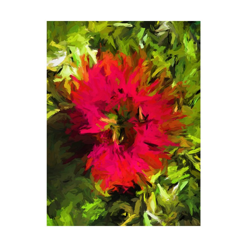 Red Flower Flames by jackievano's Artist Shop