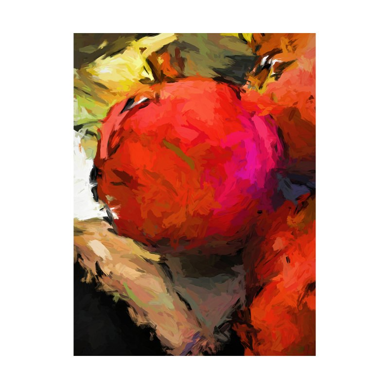 Red Pomegranate in the Yellow Light by jackievano's Artist Shop
