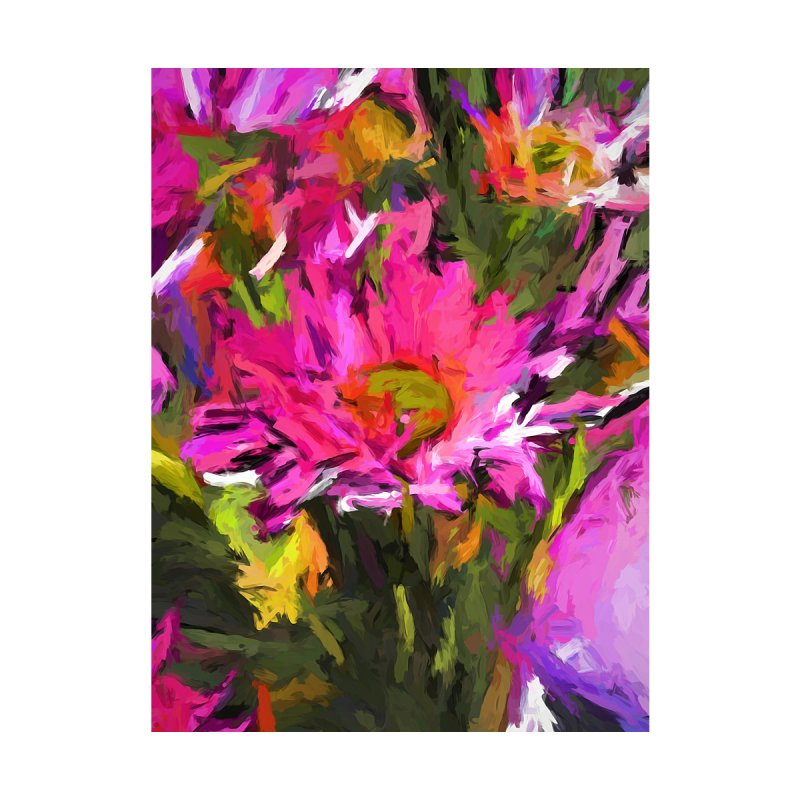 Lolly Pink Daisy Flower by jackievano's Artist Shop