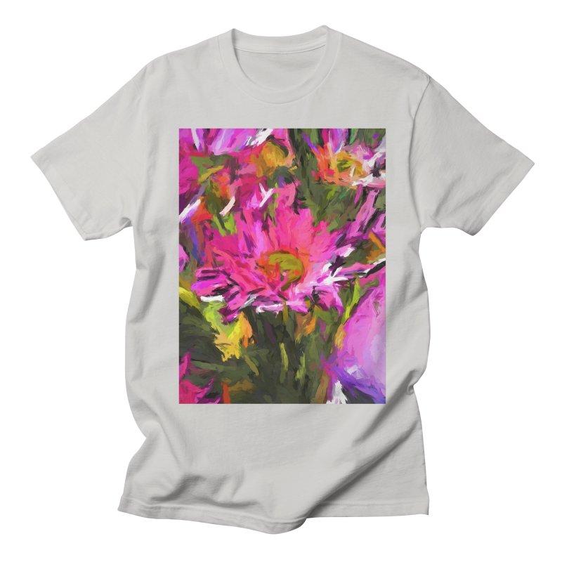 Lolly Pink Daisy Flower Women's Regular Unisex T-Shirt by jackievano's Artist Shop