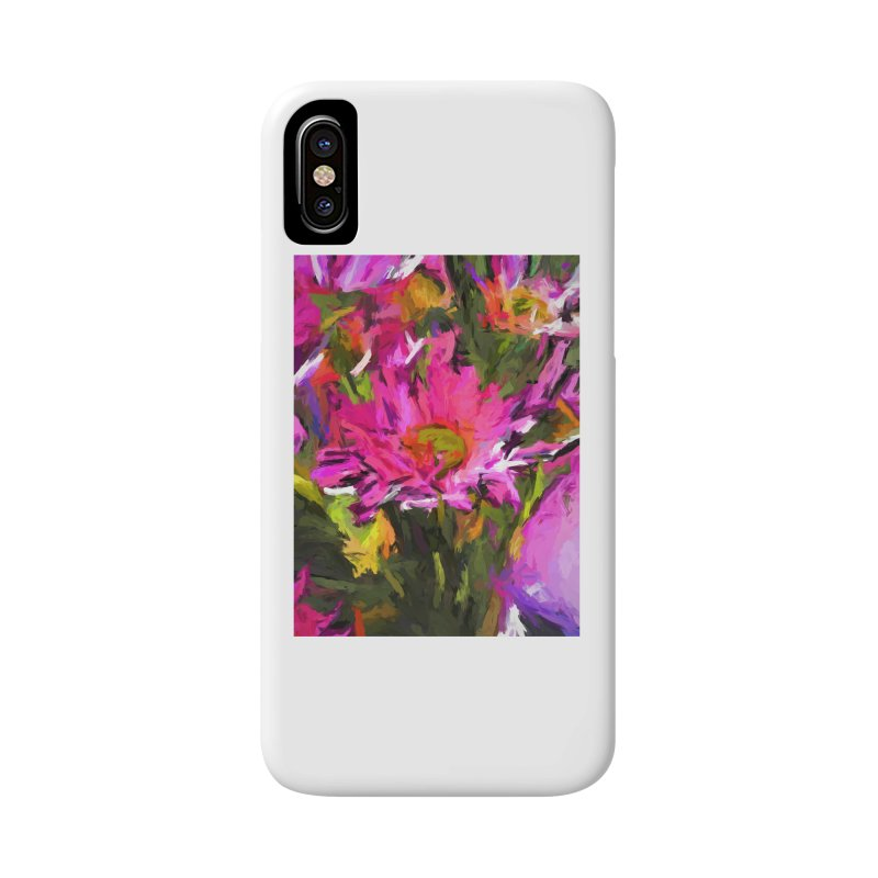 Lolly Pink Daisy Flower Accessories Phone Case by jackievano's Artist Shop